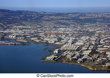 Aerial View of San Francisco Bay Area
