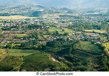 Aerial view of San Jose in Costa Rica - Aerial view of the...