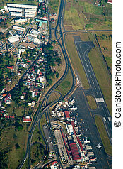 Aerial view of San Jose in Costa Rica