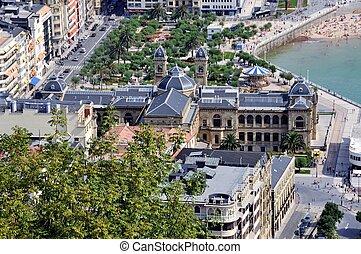 Aerial view of San Sebastian