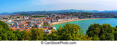 Aerial view of San Sebastian, Spain