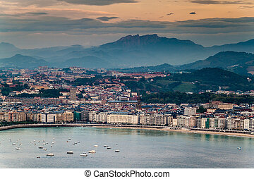 Aerial view of San Sebastian