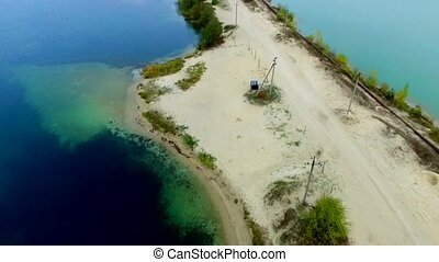 Aerial view of sandy sea braid - Aerial view of sea braid...