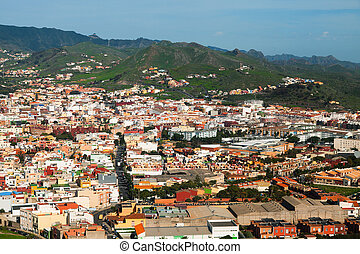 Aerial View of Santa Cruz de Tenerife