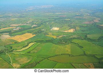 aerial view of Sardinia countryside, Italy