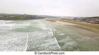 Aerial view of sea 4k - Aerial view of beautiful sea 4k
