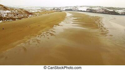 Aerial view of sea 4k