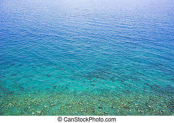 Aerial view of sea water surface