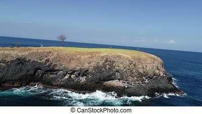 Aerial view of secret spot in Bali - Aerial view of small...
