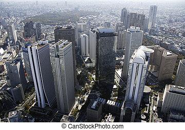 Aerial view of Shinjuku subcenter areas