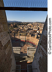Aerial view of Siena - Tuscany Italy