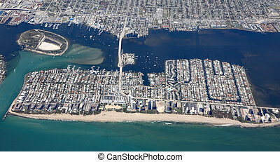 Aerial view of Singer Island, Florida, USA