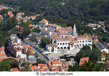 Aerial view of Sintra, Portugal