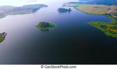 small island in lake