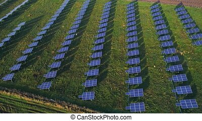 aerial view of solar plant