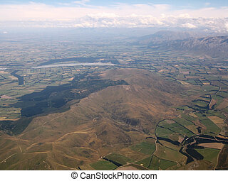 Aerial view of South Island, New Zealand