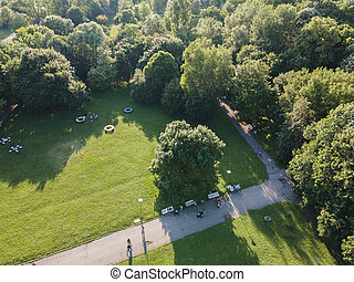 Aerial view of South Park in Sofia, Bulgaria