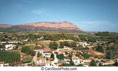 Aerial view of Spanish landscape near Alicante - Aerial shot...