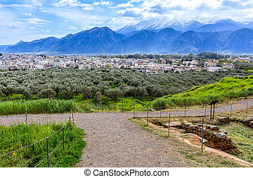 Aerial view of Sparta, Peloponnese, Greece