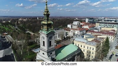 St. Michael cathedral in Belgrade - Aerial view of St....