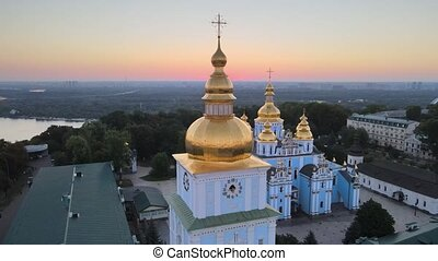 Aerial view of St. Michael's Golden-Domed Monastery in the ...