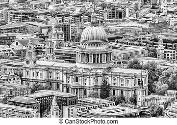 Aerial View of St Paul Cathedral, London