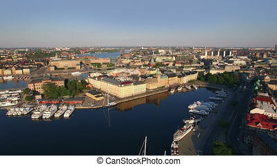 Aerial view of Stockholm City