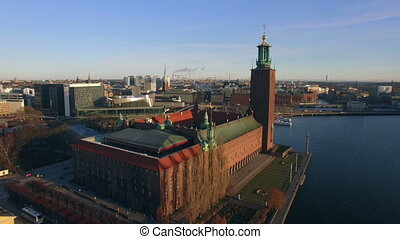 Stockholm City - Aerial view of Stockholm City
