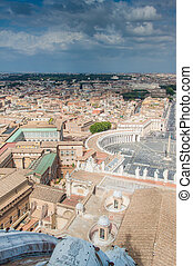 Aerial view of St.Peters Square