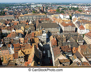Aerial view of Strassbourg