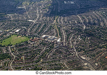 Aerial View of Streatham, South London