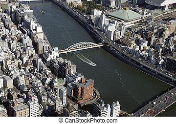 Aerial view of Sumida-ku areas