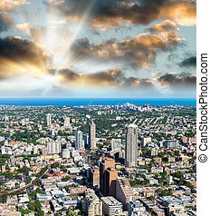 Aerial view of Sydney skyscrapers, Australia