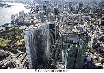 Aerial view of Takeshiba areas