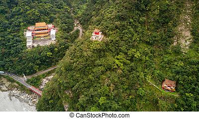 Aerial view of Taroko national park