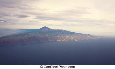 Tenerife island with Teide volcano - aerial view of Tenerife...