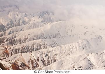 Aerial View of the Alaskan Mountain Range