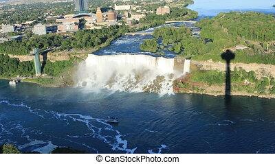 Aerial view of the American Falls, Niagara Falls