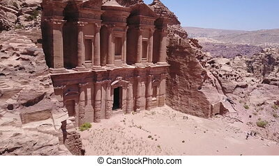 Aerial view of the Ancient City of Petra in Jordan