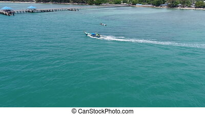 Aerial view of the Andaman sea from Rawai beach in Phuket