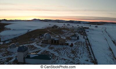 Aerial view of the astronomical observatory in the North ...