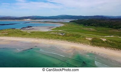 Aerial view of the awarded Narin Beach by Portnoo and ...