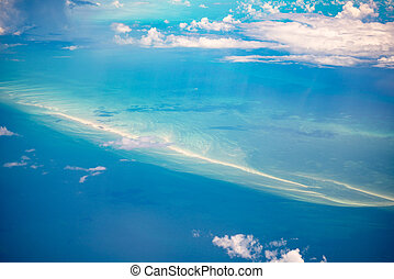 Aerial view of the Bahamas