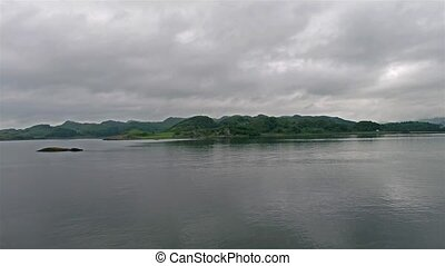 Aerial view of the bay around Duntrune Castle, Argyll