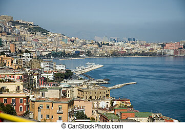 aerial view of the bay of Naples