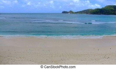 Aerial View Of The Beach And Ocean, Baie Lazare Beach, Mahe Island, Seychelles