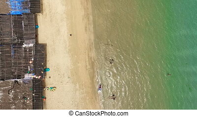 Aerial view of the beach