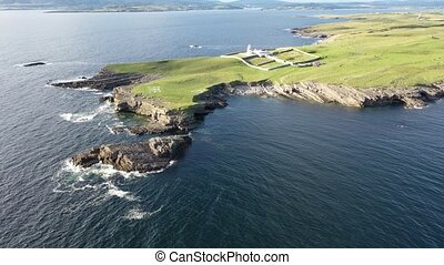 Aerial view of the beautiful coast at St. John's Point, County Donegal, Ireland..