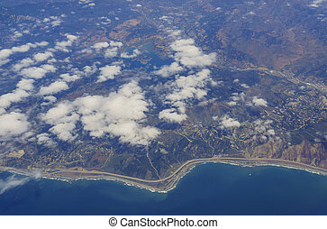 Aerial view of the beautiful Ventura