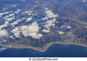 Aerial view of the beautiful Ventura